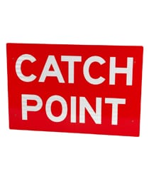 Rail Catch Point Sign
